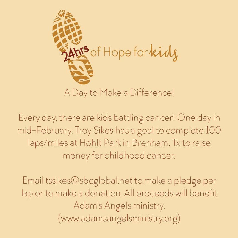 Fund raising events for Adam's Angels